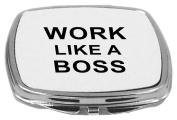 Rikki Knight Compact Mirror, Work Like a Boss, 150ml