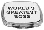 Rikki Knight Compact Mirror, World's Greatest Boss, 150ml