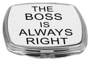 Rikki Knight Compact Mirror, The Boss is Always Right, 150ml