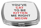 Rikki Knight Compact Mirror, You've Cat to Be Kitten Me Right Meow, 150ml