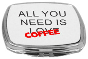 Rikki Knight Compact Mirror, All You Need is Love Coffee, 150ml