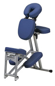 Stronglite Ergo Pro II - Version 2 Portable Massage Chair Package in Royal Blue w 3 D.V.D Medical Massage Video Series