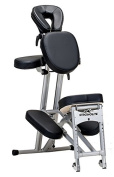 Stronglite Ergo Pro II - Version 2 Portable Massage Chair Package in Black w 3 D.V.D Medical Massage Video Series