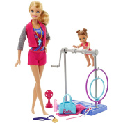 Barbie Gymnastic Coach Doll and Playset for Girls 3 Years and Up