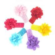 Alonea 6PCS Baby Headbands Newborn Flower Hairband Hairdress