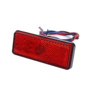 Tuscom 1PC Universal Car ATV SUV 12V Red 24 LED Stop Fog Tail Brake Light Lamp