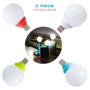 Geekercity Portable Creative Mini USB Bubble Lights, Plug Charging Treasure Dormitory Bedroom Bulb Lamp Fixtures Nightlight for Kids Children Study