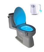 PowerLead Toilet Light Sensor Motion Activated LED Energy-efficient Portable Bathroom Colour Changing Nightlight