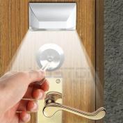 Wonderpark - 4 LED Door Keyhole Light Motion Sensor Night Light - PIR Infrared IR Wireless Auto Sensor Motion Detector - Stick On Anywhere - Battery Powered