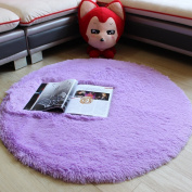 MELIFE Modern Multicoloured Simple Round Shaggy Area Rugs and Carpet Super Soft Bedroom Carpet with a Heart Rug, for Kids Play ,Bedroom Carpet Bedside Rugs Home Decor Hardwood Floor Carpet Round 120cm