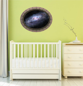 60cm Porthole Instant Outer Space Ship Window View SPIRAL GALAXY #3 OVAL RIVETS Wall Graphic Sticker Decal Baby Room Home Den Mural Man Cave Art Décor MEDIUM