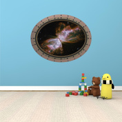 60cm Porthole Outer Space Ship Window View QUASAR STAR #3 OVAL RIVETS Wall Graphic Sticker Decal Baby Room Home Den Mural Man Cave Art Décor MEDIUM