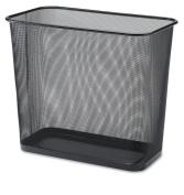 Rectangular Stainless Steel Waste Bin, Dimensions 17Lx10Wx15H, 11.4-22.7ls, Black