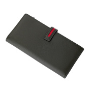 Genuine Leather Multi Wallet Credit Card holder Wallet With Button Snap Closure