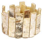 birch slice garland 100cm