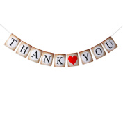 PIXNOR THANK YOU Banner Bunting Photo Prop Wedding Party Decoration