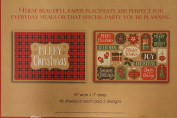 Christmas Placemats 48 Disposal Festive Paper Placemats 2 Assorted Designs