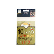 JT Scrapbooking 10 Things I Love About Everyday Life Journaling Pocket - 24 Pack