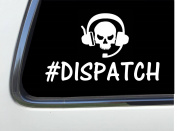 ThatLilCabin - Skull #Dispatcher 20cm AS423 car sticker decal