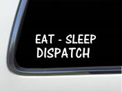 ThatLilCabin - Eat - Sleep Dispatch skull 20cm AS422 car sticker decal