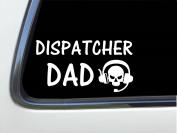 ThatLilCabin - Dispatcher DAD skull 20cm AS419 car sticker decal
