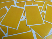 Minilabel 30 Labels, 75X50Mm Rectangular, Amber Dark Yellow, Stickers, Selfadhesive Sticky Dots