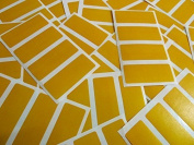 Minilabel 80 Labels, 50X20Mm Rectangular, Amber Dark Yellow, Stickers, Selfadhesive Sticky Dots