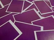 Minilabel 30 Labels, 75X50Mm Rectangular, Dark Purple Violet, Stickers, Selfadhesive Sticky Dots