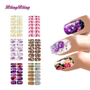 BlingBling 6 sheet Flower Nail Art Decorations Water Transfer Sticker Decals Watermark Wraps Manicure Decor For Nails Women Girls