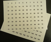 Minilabel Clear 13Mm Round Consecutive, Sequential Number Sequence Labels, Numbering Stickers, From 1160