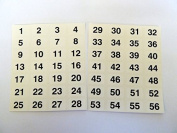 Minilabel Clear 16X10Mm Consecutive, Sequential Number Sequence Labels, Numbering Stickers, From 156