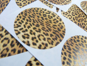 Minilabel 50 Leopard Print, Design, Pattern Sticky Labels, 50Mm Circular, Stickers, 2 Inch Round Circle, Selfadhesive