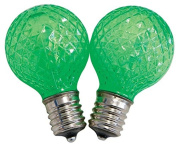Celebrations Uurt4711 Led Faceted G40 Replacement Bulbs, Green