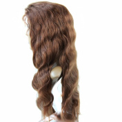 Forawme Wigs For Women Human Hair #4 Chocolate Brown 70cm Full Lace Body Wave 130% Density Middle Size Cap Wig