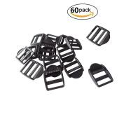 """60 Pcs 1"""" (25mm) Plastic Tension Locks Triglide for Belt Backpack Camping Bag Belt Suitcase"""