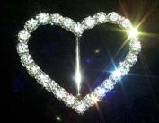 #12174C Rhinestone Heart Buckle