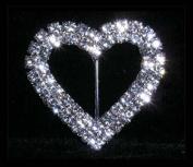 #14582 - 2 Row 4.4cm Heart Buckle