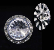16mm Rondel Button with Crystal Rivoli Centre - 11790/16mm