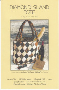 Diamond Island Tote Pattern, by Aunties Two, Batik Friendly, Finished Tote 30cm H by 36cm W by 20cm D