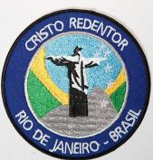 Jesus Christ the Redeemer Patch Embroidered Iron / Sew on Badge Cristo Redentor Rio De Janeiro Brasil Trekking Trail Applique Souvenir