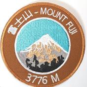 Mount Fuji Japan Patch Embroidered Iron / Sew on Badge Asia Trekking Trail Applique Souvenir