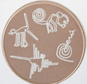 Nazca Lines Peru Patch Embroidered Iron / Sew on Badge Inca Trail Geoglyphs Applique Souvenir