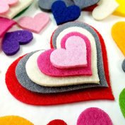 Summer-Ray.com 30ml Mixed Lasercut Felt Hearts Assorted Colours and Sizes