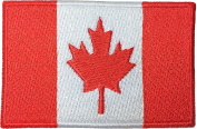 Canada Flag Country Canadian Maple Leaf Iron Sewing On National Embroidered Badge Emblem Patch by Ranger Return