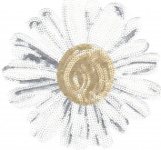 Sequin Patch: White Sunflower