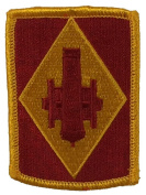 US ARMY 75TH FIELD ARTILLERY BRIGADE Patch - Red/Gold - Veteran Owned Business.