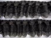 YYCRAFT Pack Of 15y 3-layer Pleated Organza Lace Edge Trim Gathered Mesh Chiffon Ribbon