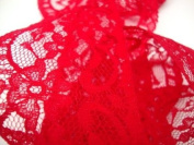 Cranberry Card Company 63Mm Flat Nylon Red Lace Trimming/Edging