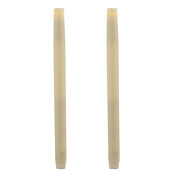 Ivory 30cm Flameless Taper Candles