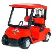 4½ Die-cast Metal Golf Cart Model (Red) by KinsFun